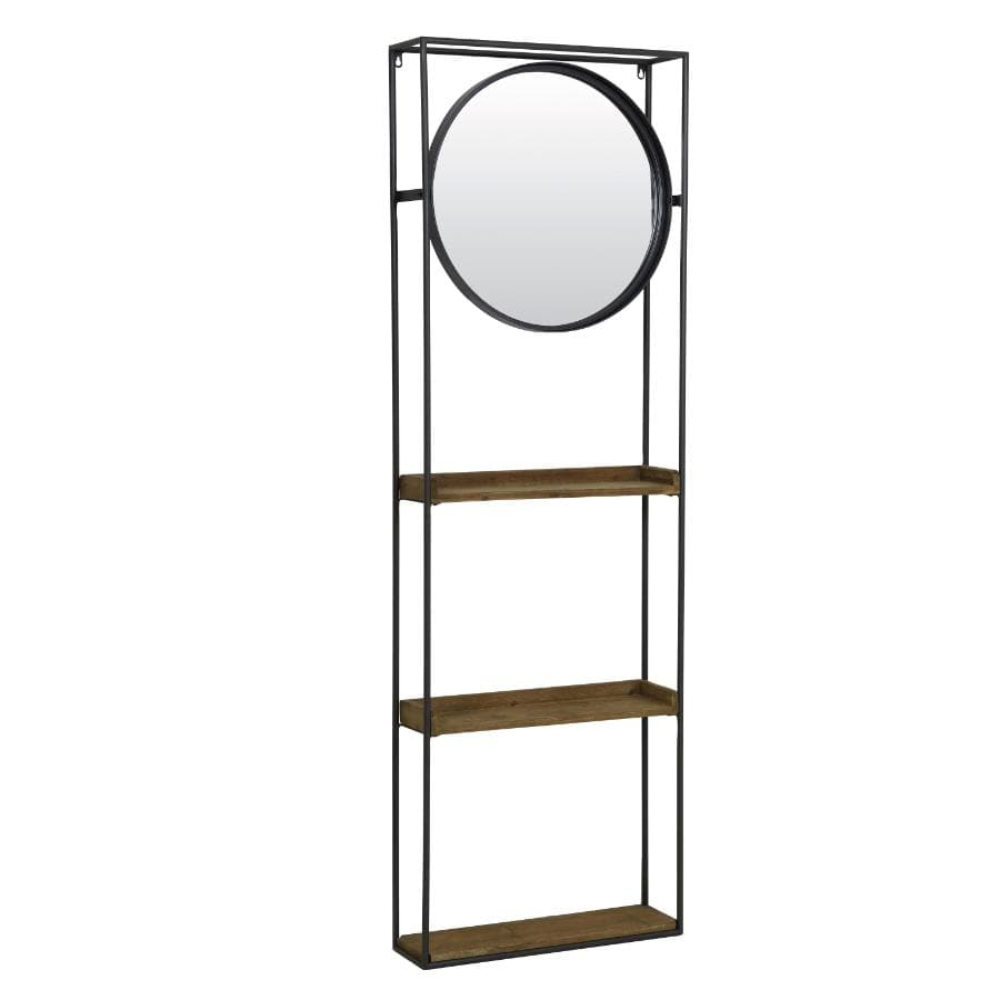 Wall Mounted Storage Shelf Mirror at the Farthing