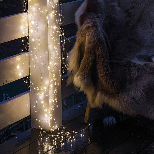 Warm 350 Dewdrop Sirius LED Naked Wire Light Garland - The Farthing
