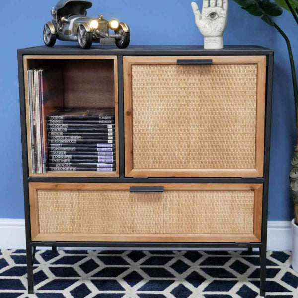 Webbed Rattan Fronted Woolacombe Sideboard | Farthing