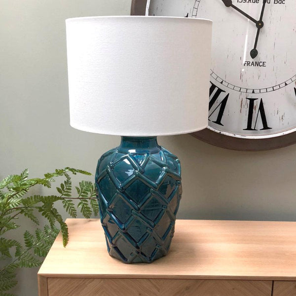 West Bay Table Lamp & Shade - Deep Blue | The Farthing 3