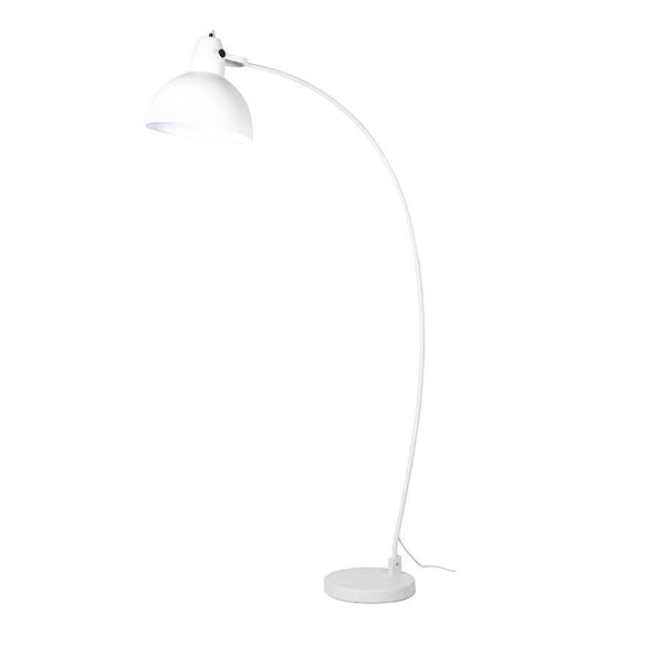 White Arc Floor Lamp at the Farthing