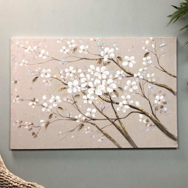White Blossom Canvas at the Farthing  2