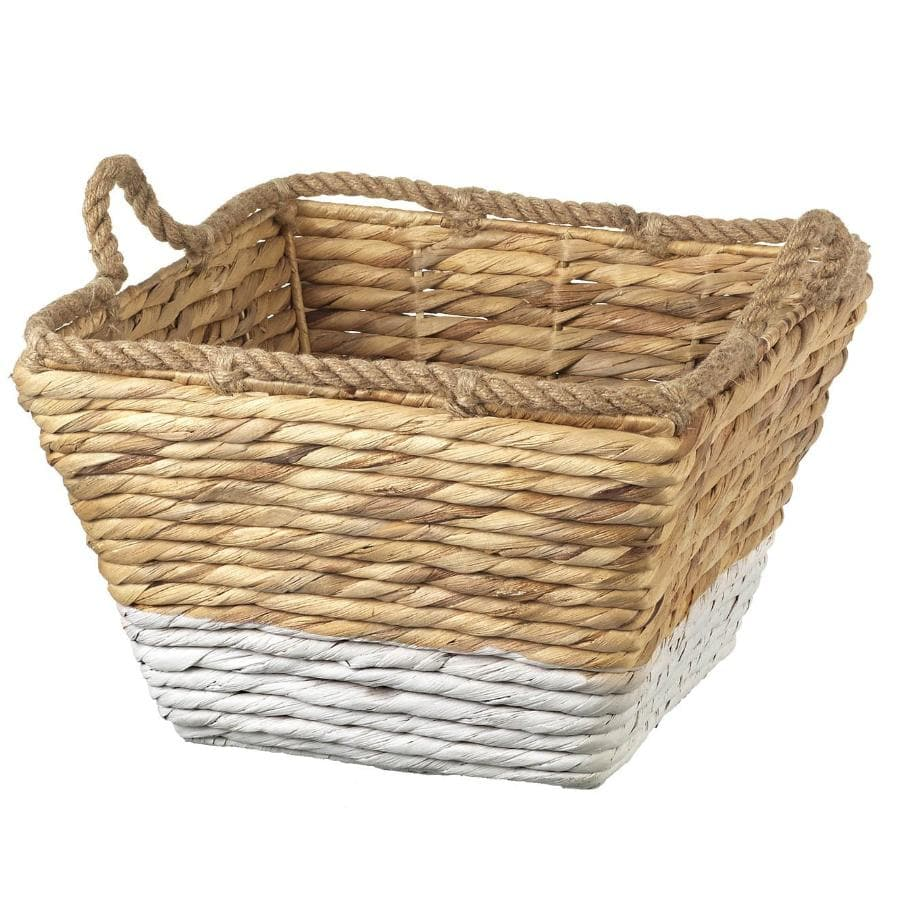 White bottom Water-hyacinth Basket at the Farthing