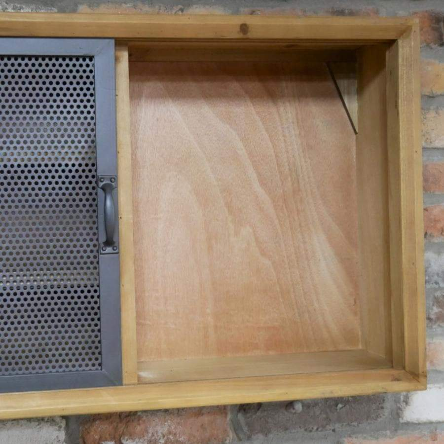 Wide Metal Fronted Axford Wall Cabinet 1