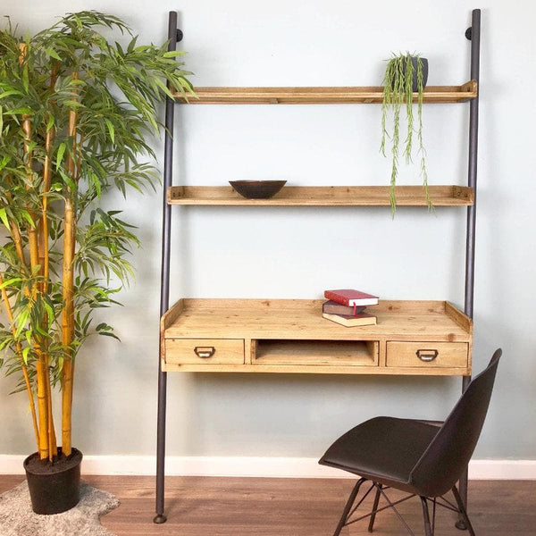 Wide Ladder Shelf Ladder with Desk at the Farthing