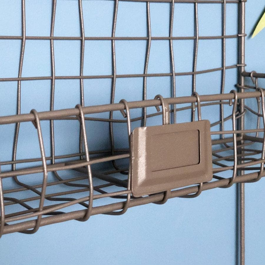 Wire Twin Shelf Storage with Hooks at the Farthing