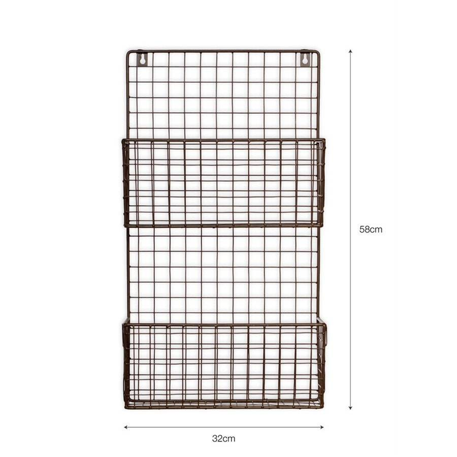 Farringdon Wirework Magazine Rack - Charcoal - The Farthing