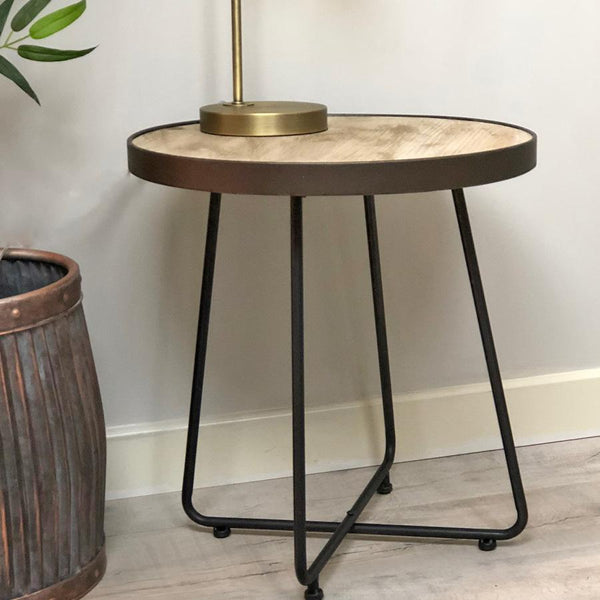 Wooden Top Mainland Side Table | Farthing