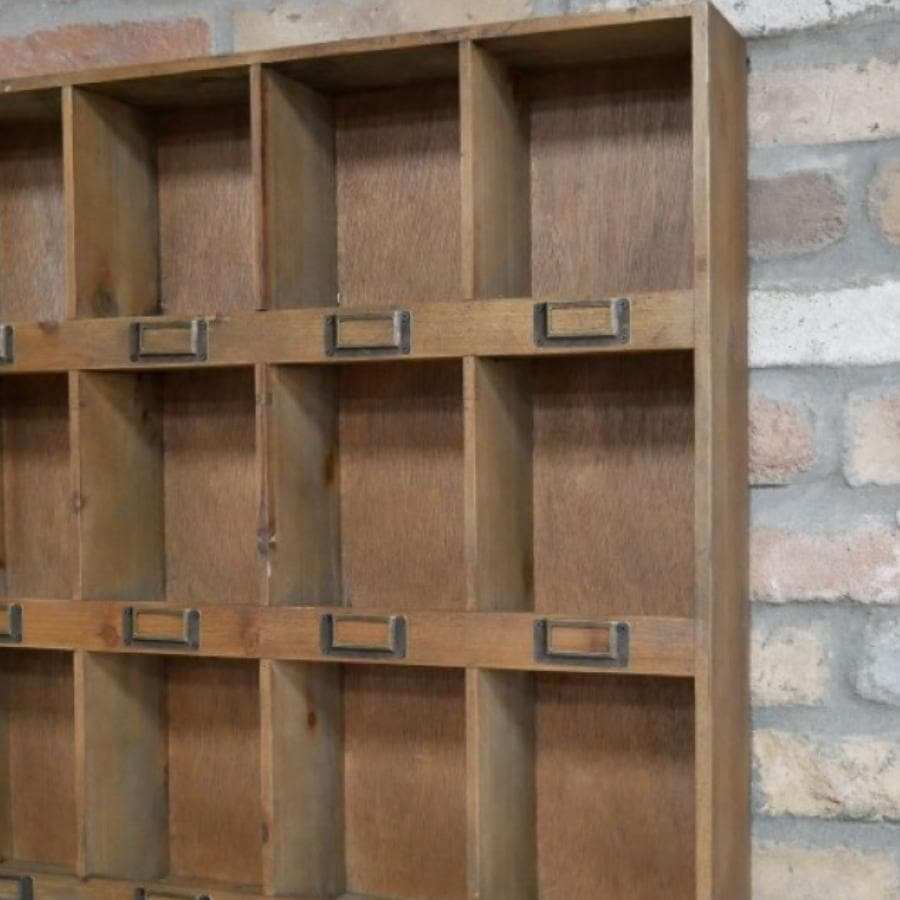 Wooden Cubby Hole Storage Unit