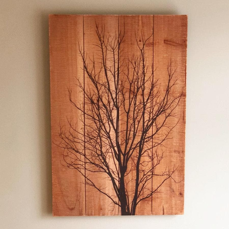 Wooden Tree Silhouette Wall Art | Farthing