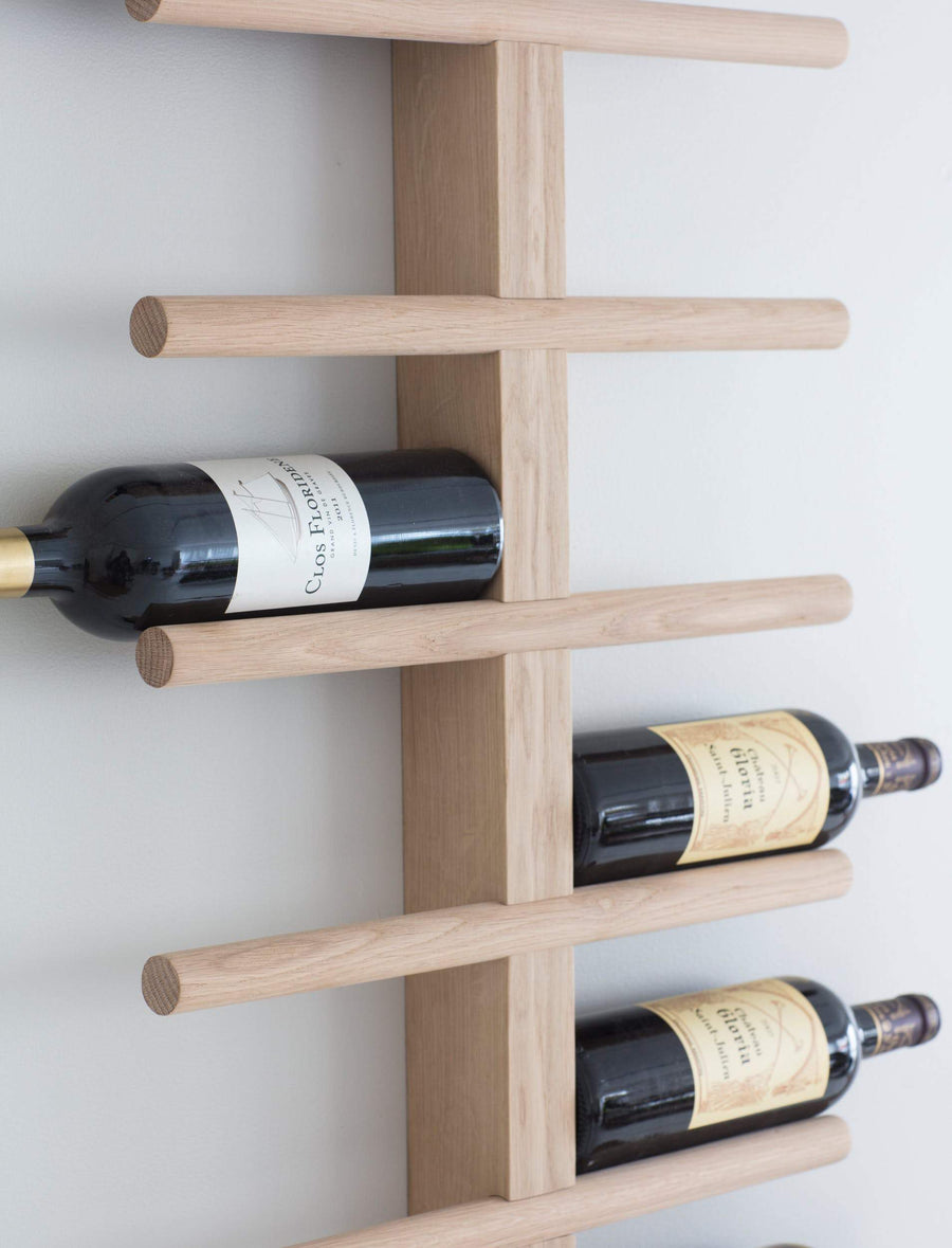 Wood Wall Mounted Wine Bottle Rack at the Farthing