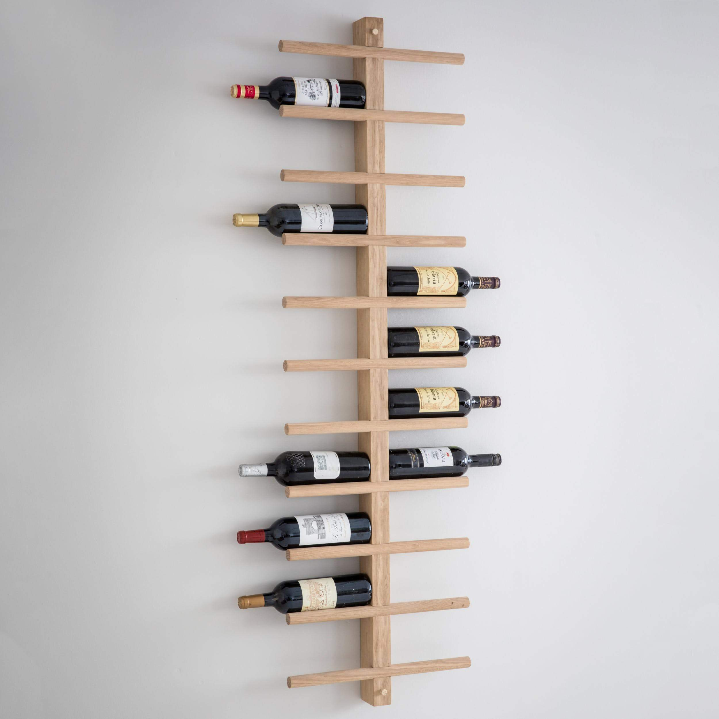 Wood Wall Mounted Wine Bottle Rack At The Farthing The Farthing