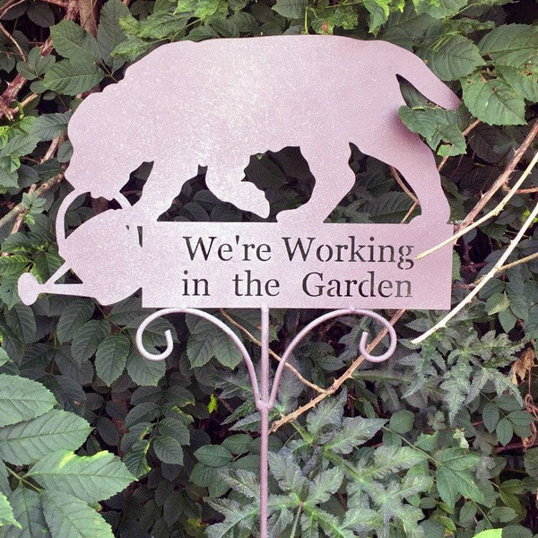 Working In The Garden Floor Sign - The Farthing