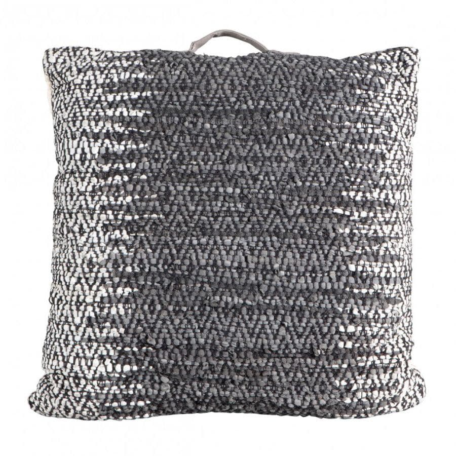 Woven Leather Floor Cushion at the Farthing