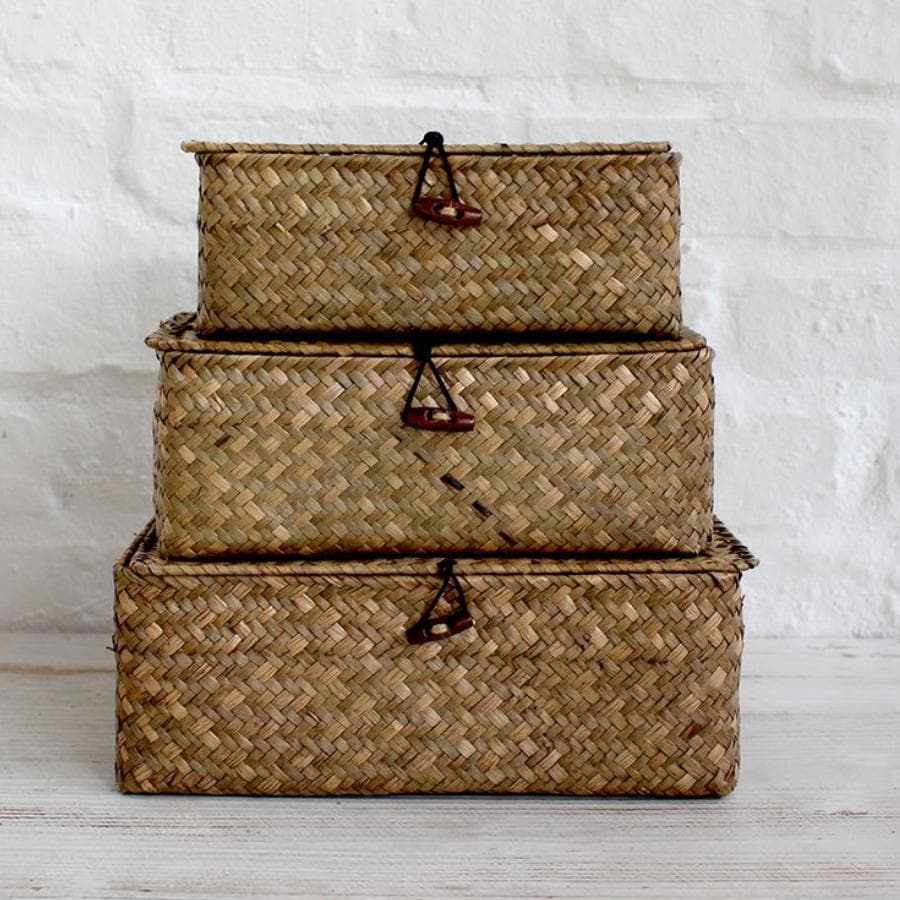 Woven Myanmar Storage Basket Set at the Farthing