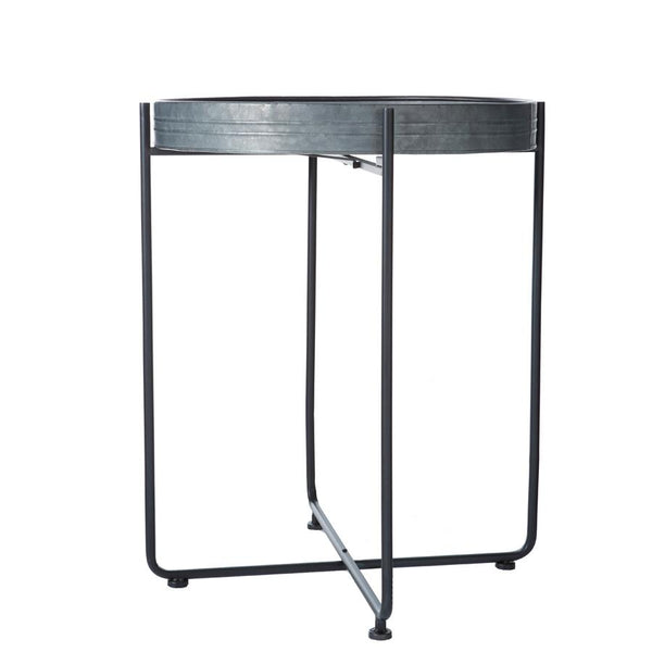 Large Zinc Metal Tray Table