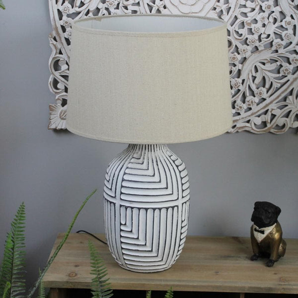 Textured Abstract Himba Table Lamp & Shade | The Farthing
