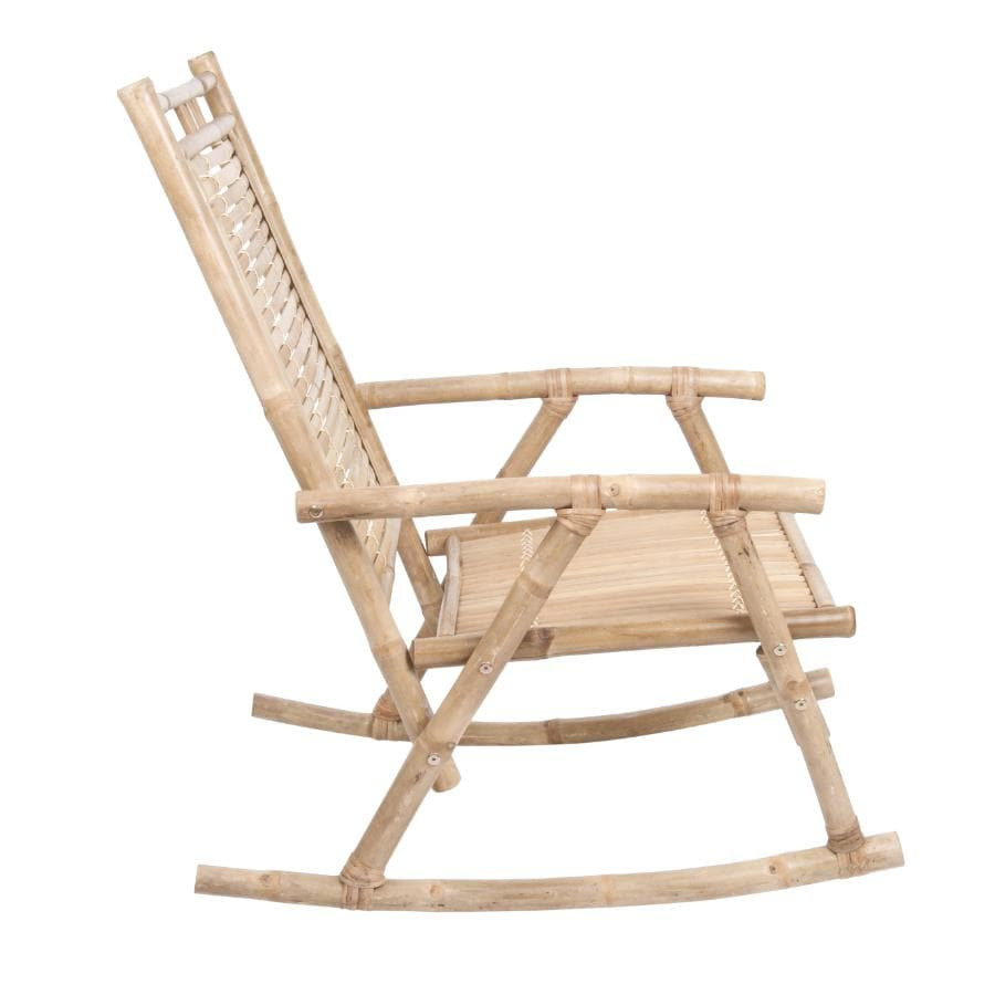 Rustic Bamboo Rocking Chair