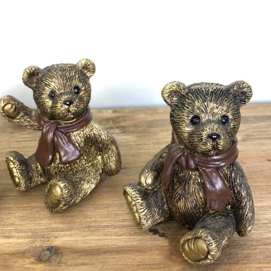 Antiqued Gold Bear Ornaments at the Farthing