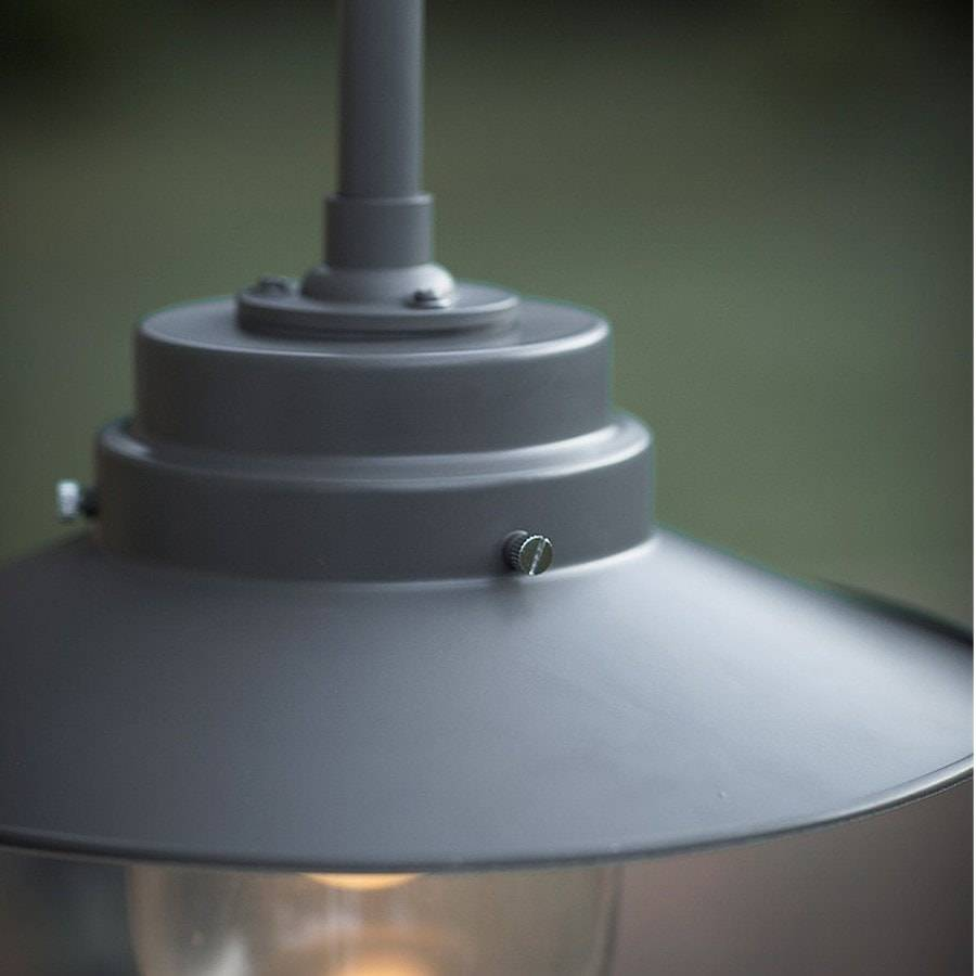 Belfast Exterior Metal Wall Light in Charcoal - The Farthing