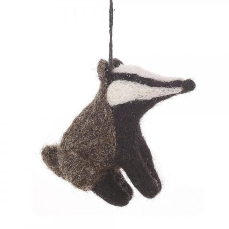 Felt Bernie Badger Hanging Decoration 1