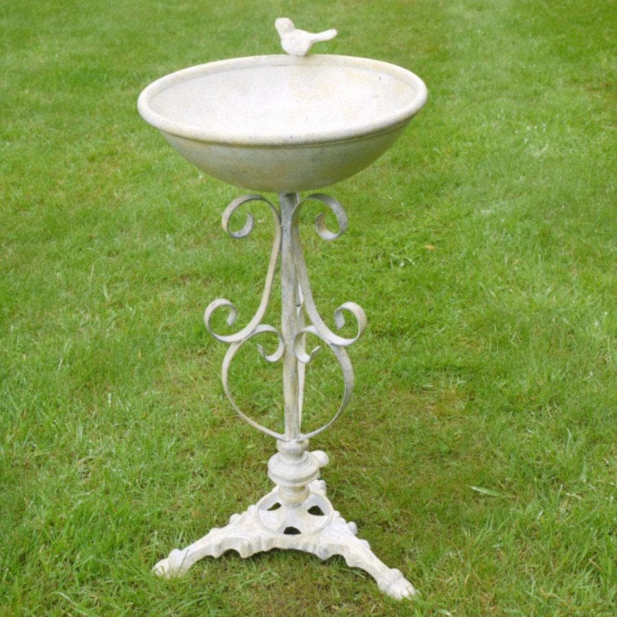 Distressed Garden Bird Bath at the Farthing