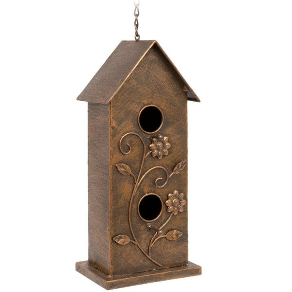 Golden Metal Hanging Bird House at the Farthing
