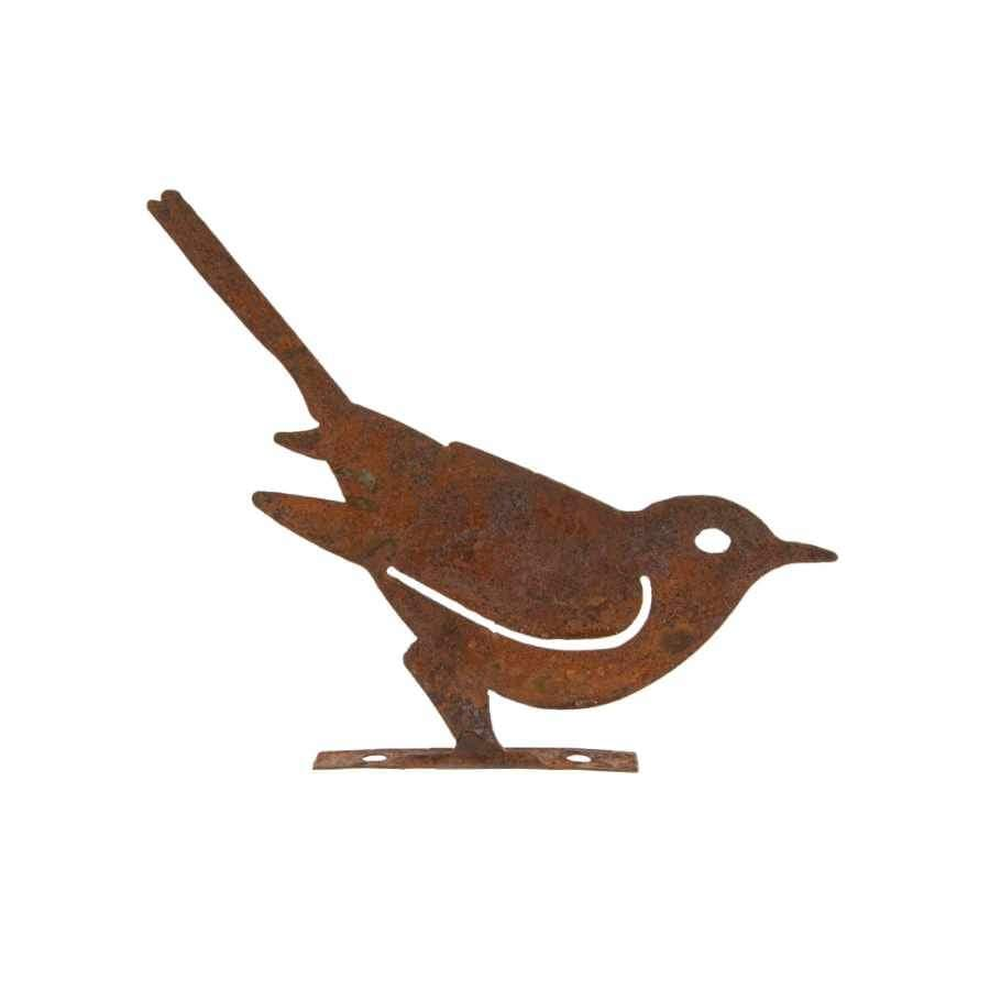 Decorative Rusty Bird Silhouette