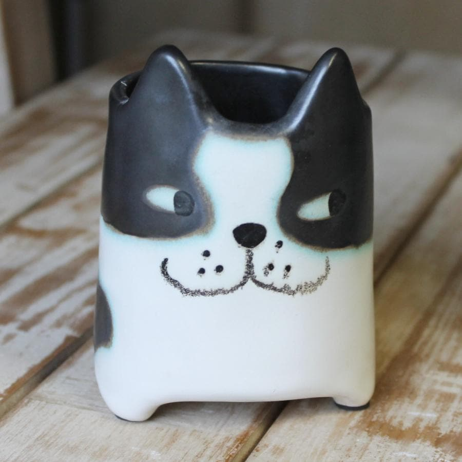 Cat Plant Pot - Black & White at the Farthing 3