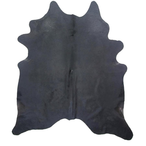 Genuine Cowhide Rug with Black & White Markings at the Farthing