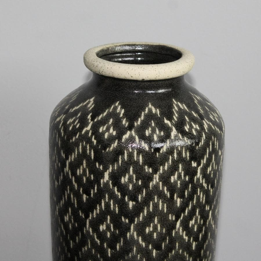 Black & White Tuscan Ceramic Vase at the Farthing 1