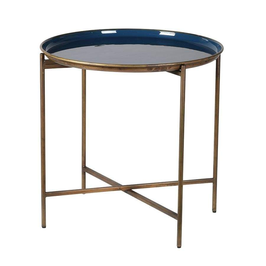 Gold and Blue Tray Table at the Farthing
