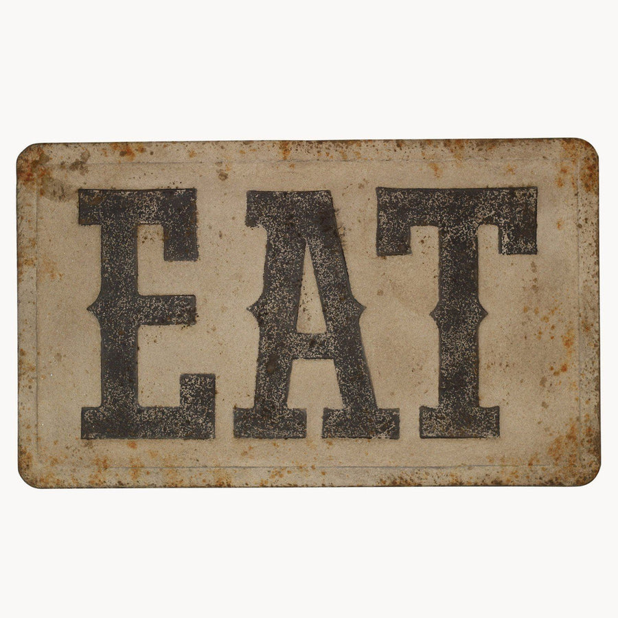 Distressed Metal Eat Wall Sign