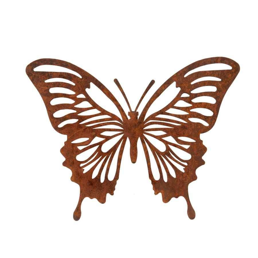 Rustic Metal Butterfly Wall Art