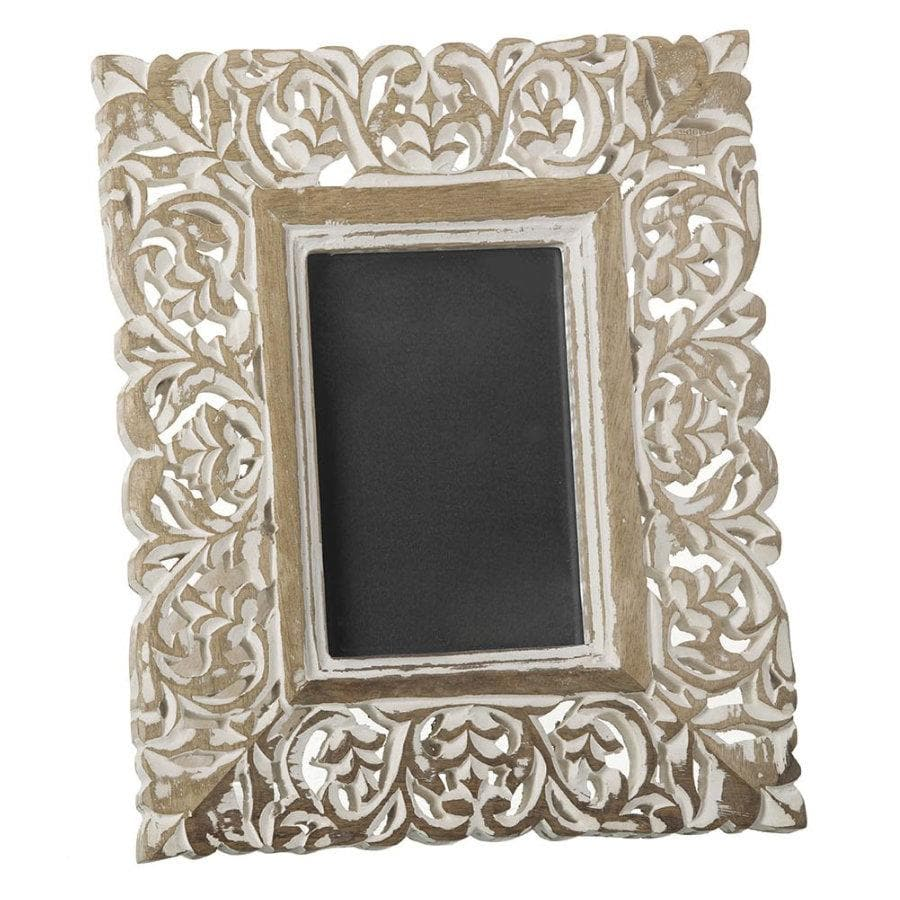 Whitewashed Standing Photo Frame