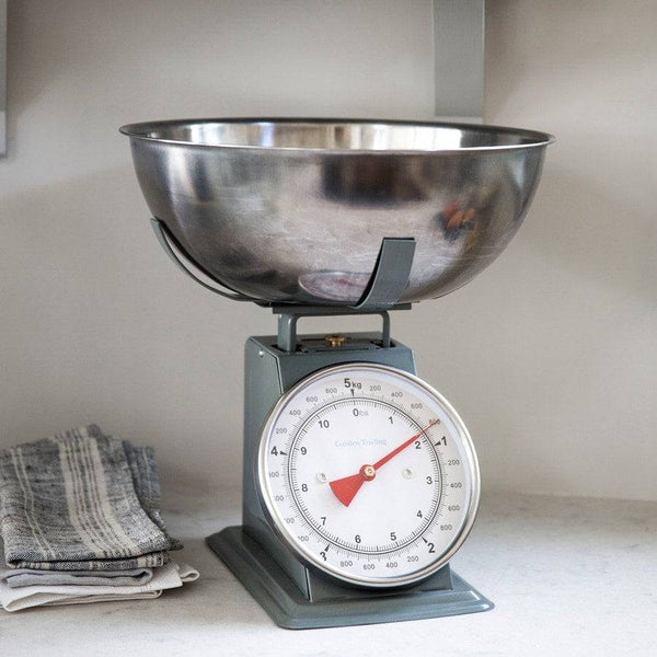 Large Cooks Kitchen Scales 5kg - In Charcoal - The Farthing