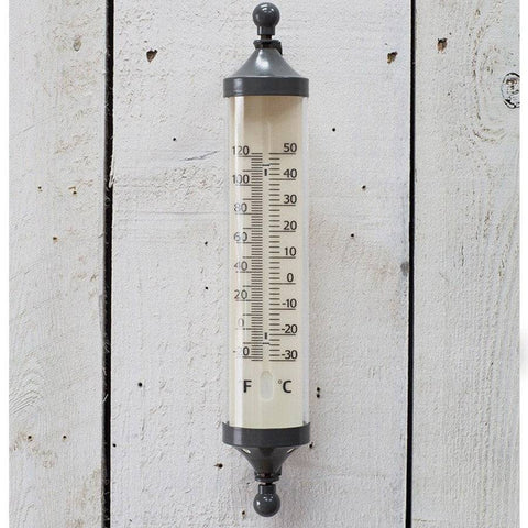 Large Tube Thermometer in Charcoal - The Farthing