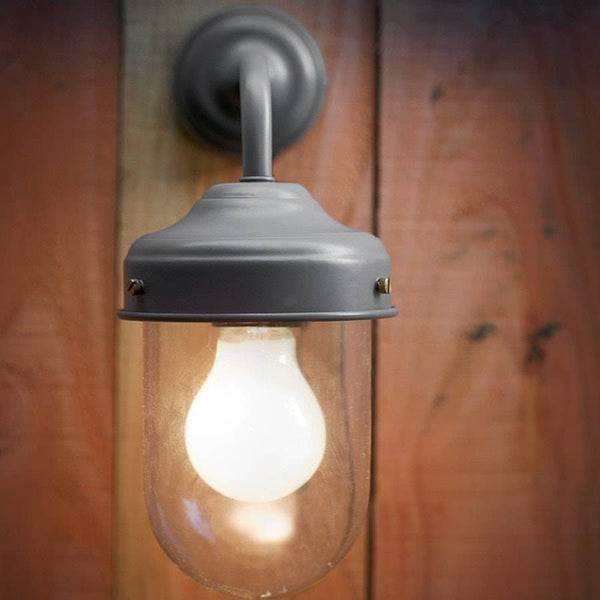 Chic Exterior Metal Barn Wall Light in Charcoal - The Farthing