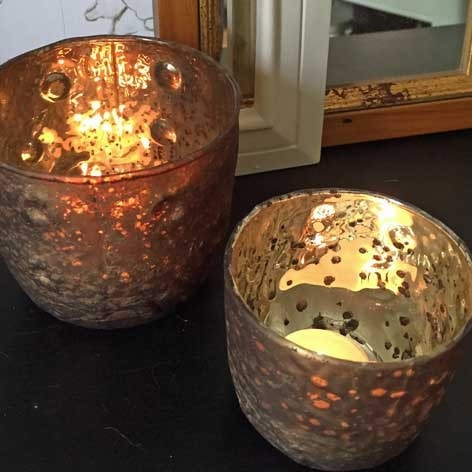 Chic Speckled Bronze Votive Set - The Farthing  - 1