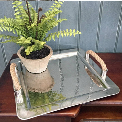 Potted Faux Boston Fern in a Rustic Cement Pot - The Farthing  - 2