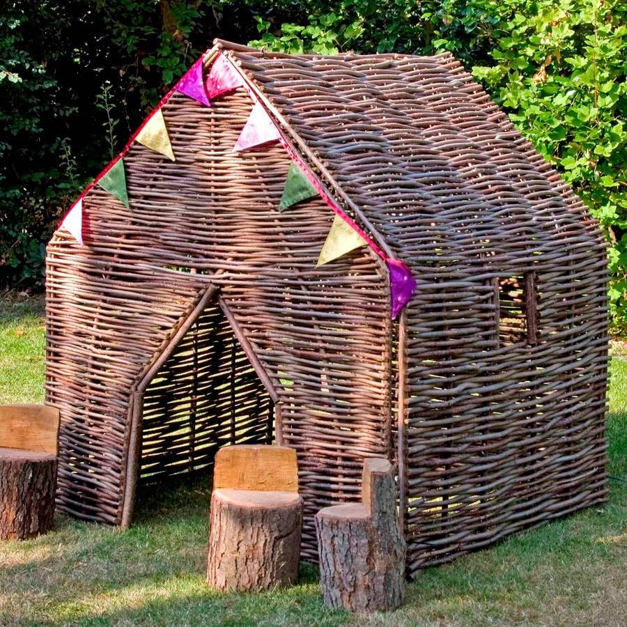 Rustic Children's Hazel Playhouse - The Farthing