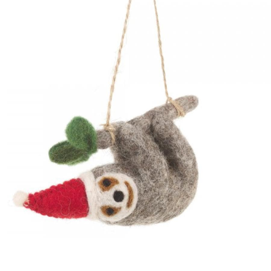Charlie Felt Christmas Sloth Hanging Decoration 4