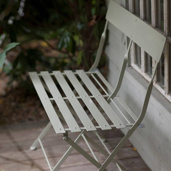 Folding Bistro Bench In Clay Chic Garden Seating The