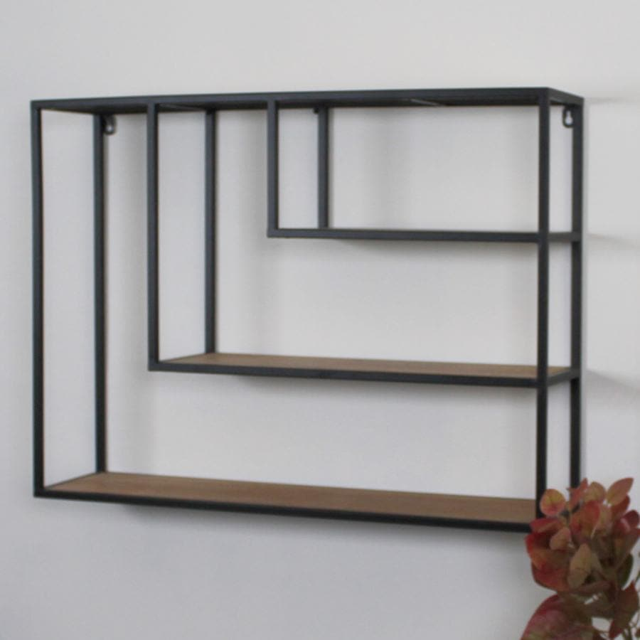 Industrial Clovelly Metal & Wood Wall Shelf at the Farthing