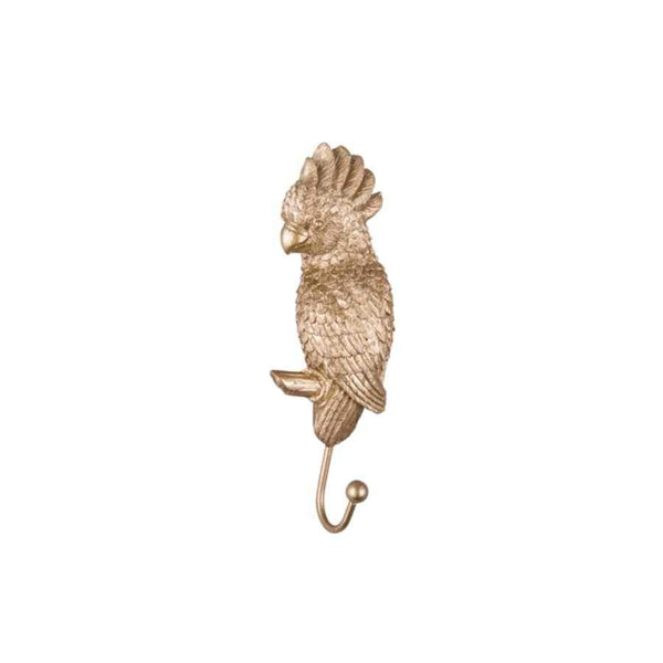 Gold Cockatoo Coat Hook