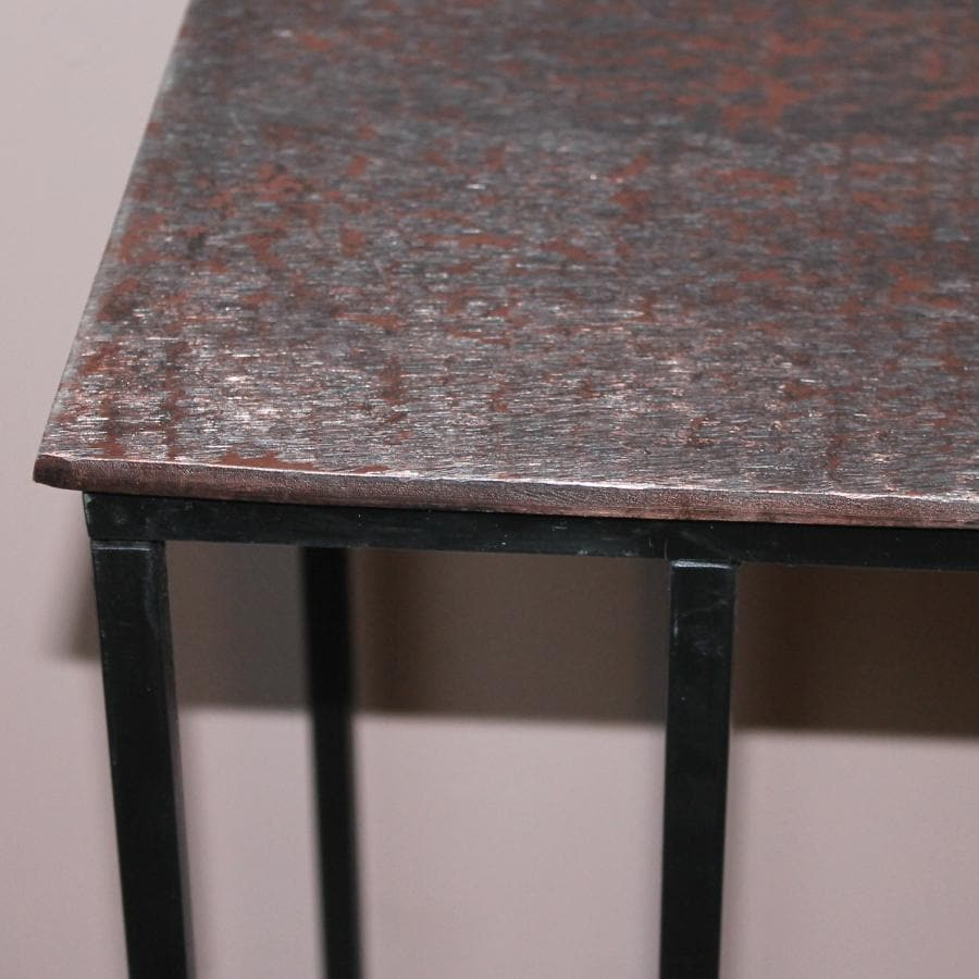 Vintage L Shaped Side Table - Copper at the Farthing