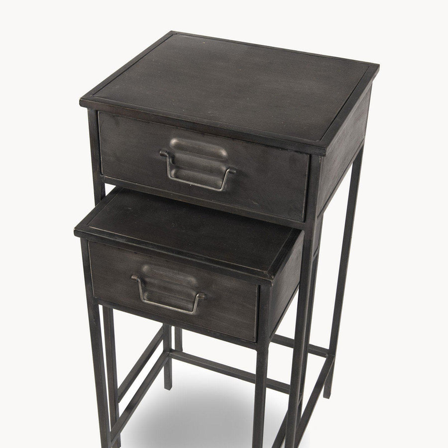 Nestling Metal Locker Side Table Set