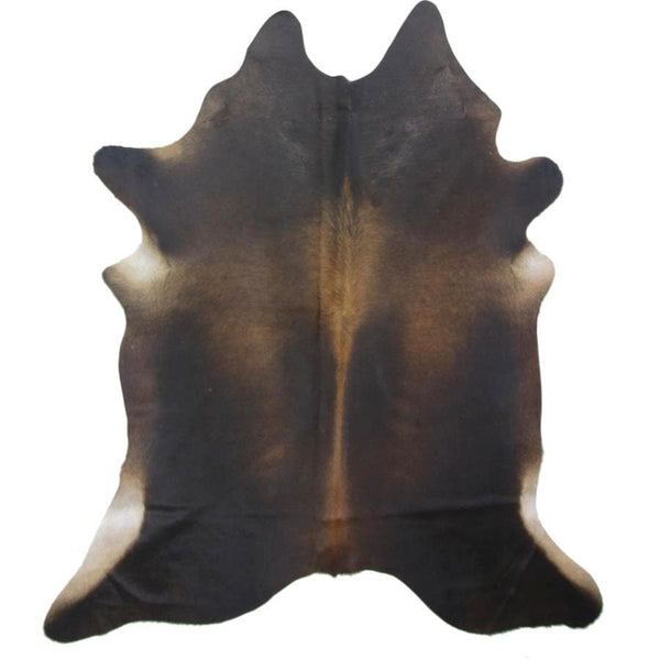 Genuine Darker Brown Cowhide Rug at the Farthing
