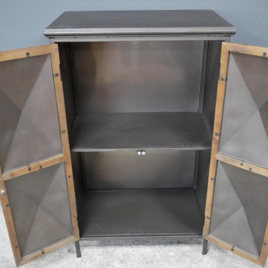Diamond Fronted Metal Locker Cabinet