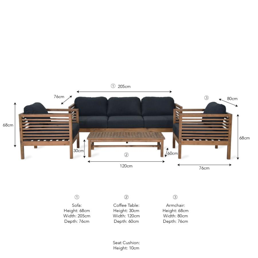 Cadgwith Sofa Set at the Farthing